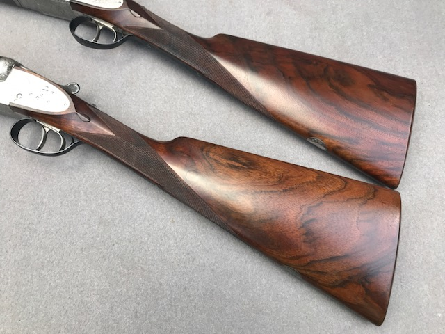 SOLD) ARMAS GARBI A PAIR OF 12 BORE SIDE BY SIDE SIDE LOCK EJECTOR
